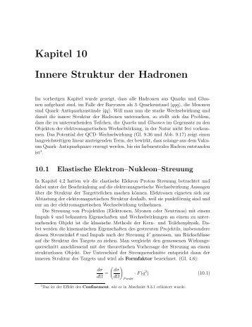 Kapitel 10 Innere Struktur der Hadronen - Hera-B