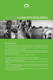 Pamphlet: AVSI and capacity building