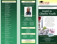 Download the latest brochure - Oberlin Community Services