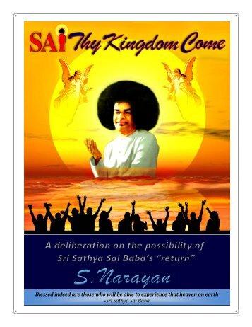 Book: SAI Thy Kingdom Come - SVYASA Repository Home