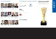 ASCO Award 2009 - Peter Schmid Projektmanagement