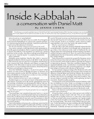 a conversation with Daniel Matt - The Jewish Post & Opinion