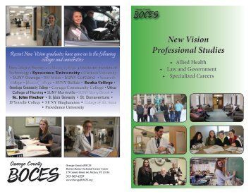 New Vision Programs - Oswego County BOCES
