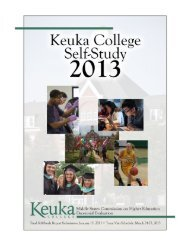 final version of the self-study document - Keuka College's Middle ...