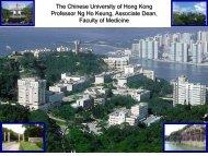 The Chinese University of Hong Kong Professor Ng Ho Keung ...