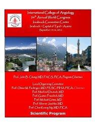 Scientific Program - International College of Angiology