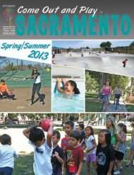 Come Out and Play Spring/Summer 2013 - City of Sacramento