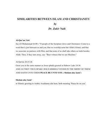 SIMILARITIES BETWEEN ISLAM AND CHRISTIANITY - Share Islam
