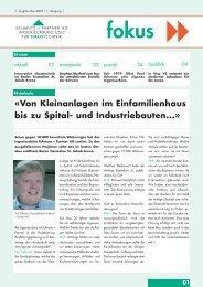 «Von Kleinanlagen im Einfamilienhaus bis zu Spital- und ...