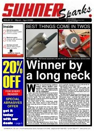 BEST THINGS COME IN TWOS - Suhner Abrasive Expert