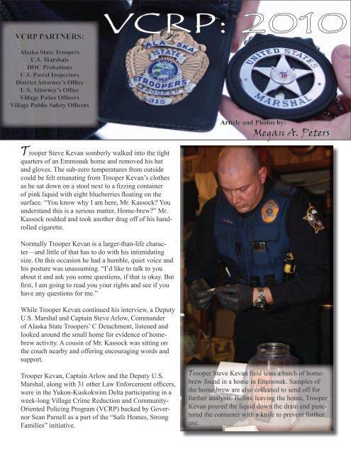 VCRP: 2010 - Alaska Department of Public Safety