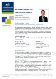 Kevan Polkinghorne Fellowship Profile - National Health and ...