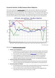 Economics Revision: Conflicts between Macro Objectives - Tutor2u