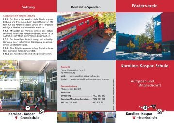 Förderverein Karoline-Kaspar-Schule