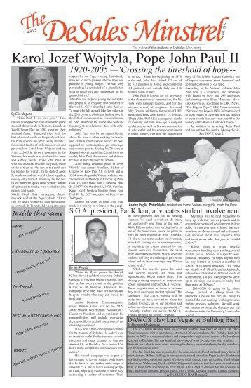 Karol Jozef Wojtyla, Pope John Paul II - DeSales University