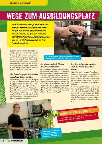 Wege zum Ausbildungsplatz - Planet Beruf.de
