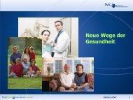 Neue Wege der Gesundheit Basispräsentation 2007 - Über mich