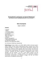 Brotaufstriche und Snacks von Karola Wiedemann Rote ... - Die kfd