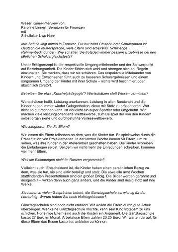 Weser Kurier-Interview von Karoline Linnert, Senatorin für ... - Bremen
