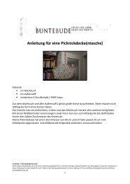 Anleitung für eine Picknickdecke(ntasche) - Farbenmix