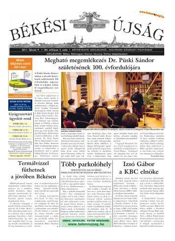 2011. február 9. - Békési Újság