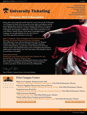 February 2013 - Princeton University