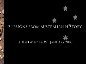 7 Lessons From Australian History