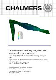 Lateral-torsional buckling analysis of steel frames with corrugated ...
