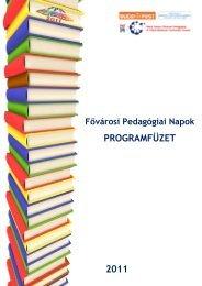 FPN 2011 programfüzet - Mérei Ferenc Fővárosi Pedagógiai és ...