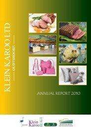 KLEIN KAROO LTD - Klein Karoo Cooperative, Ltd