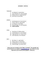 Project Hope Volunteer Schedule - St. Stephen the Martyr
