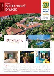 (PDF) : Centara Karon Resort Phuket Fact - World Leisure Holidays