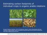 Estimating carbon footprints of individual crops in organic - Inra