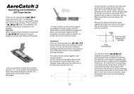 AeroCatch 3 Instructions 325 Flush Series...