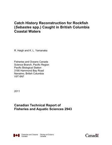 (Sebastes spp.) caught in British Columbia coastal waters.