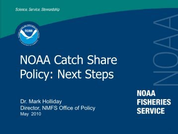 NOAA Catch Share Policy: Next Steps - National Marine Fisheries ...