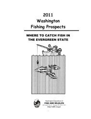 2011 Washington Fishing Prospects: Where to catch fish in the ...