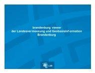 brandenburg viewer der Landesvermessung und ... - VSVI