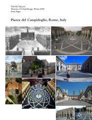 Piazza del Campidoglio, Rome, Italy - tim nguyen design