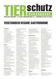 VEGETARISCH/VEGANE GASTRONOMIE - Verein gegen Tierfabriken