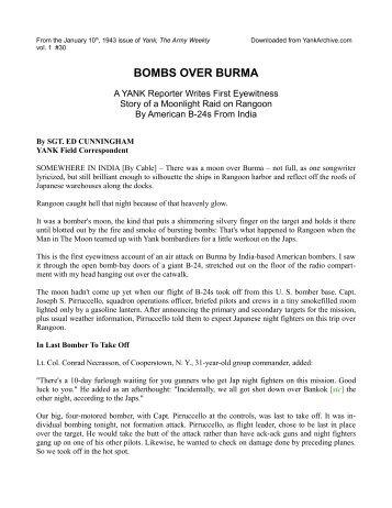 BOMBS OVER BURMA - Yank Archives