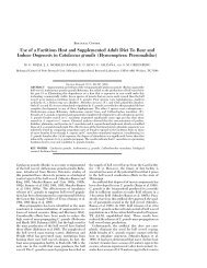 Use of a Factitious Host and Supplemented Adult - Entomological ...
