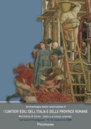 """Workshop: Italia e province orientali """"Archeologia della costruzione"""