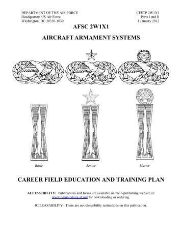 AFSC 2W1X1 AIRCRAFT ARMAMENT SYSTEMS ... - Air Force Link