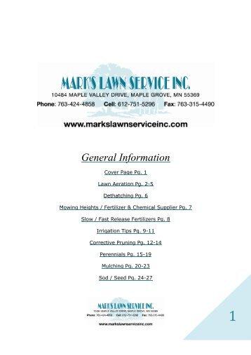 General Information - Mark's Lawn Service