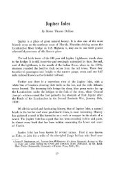 Jupiter Inlet - FIU Digital Collections