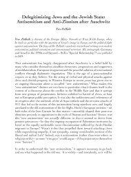 Delegitimizing Jews and the Jewish State