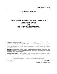 description and characteristics airborne bomb and rocket fuze manual