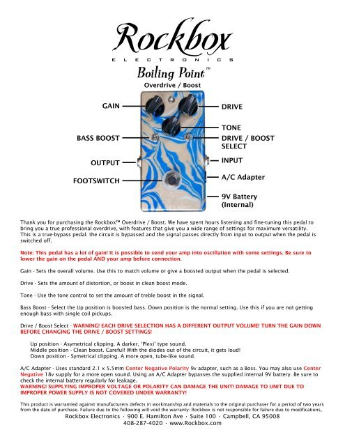 Boiling Point™ Manual - Rockbox