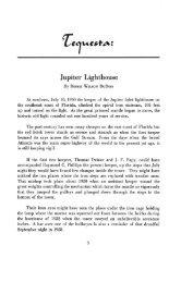 Jupiter Lighthouse - Tequesta : Number - FIU Digital Collections
